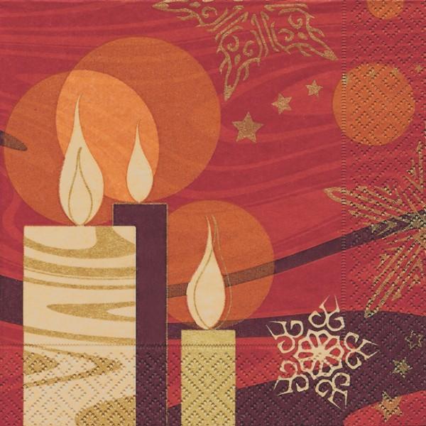 lunch serviette weihnachten modern candles servietten. Black Bedroom Furniture Sets. Home Design Ideas