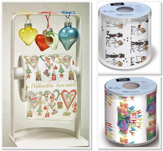 Buntes Farbiges Renova Toilettenpapier Kuchenrollen Bedruckte