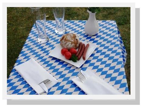 tischdecke abwaschbar einwegtischdecken aus folie von. Black Bedroom Furniture Sets. Home Design Ideas