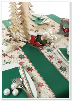 Tischläufer grün Weihnachten