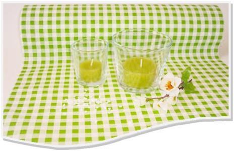 Tischläufer grün weiß kariert