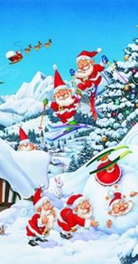 Taschentücher Winter Weihnachten Snow Fun