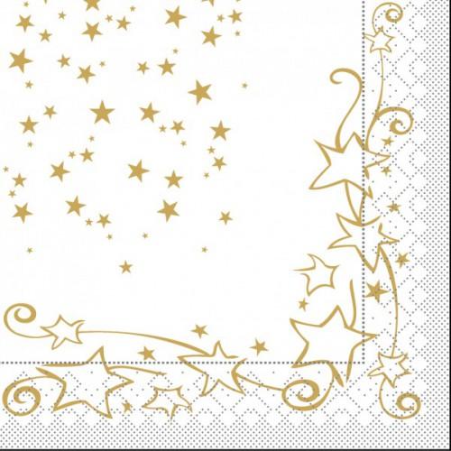 200 tissue servietten weihnachten 40x40cm glitter wei. Black Bedroom Furniture Sets. Home Design Ideas