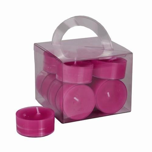 12 teelichter fuchsia pink in polycarbonath lle kerzen. Black Bedroom Furniture Sets. Home Design Ideas