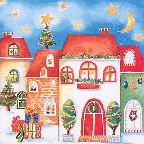 lunch serviette weihnachten design winter night angebote. Black Bedroom Furniture Sets. Home Design Ideas