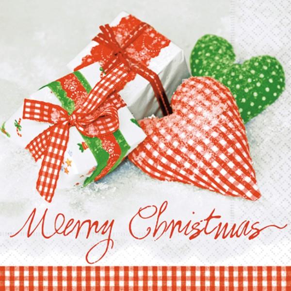 lunch serviette weihnachten design checkered xmas. Black Bedroom Furniture Sets. Home Design Ideas
