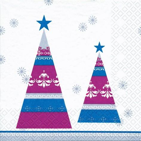 lunch weihnachtsservietten 33 x 33 cm modern trees berry servietten papierservietten. Black Bedroom Furniture Sets. Home Design Ideas