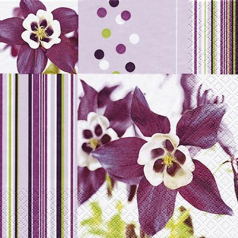 lunch servietten sommer blumen 33 x 33 cm design akelei servietten papierservietten. Black Bedroom Furniture Sets. Home Design Ideas