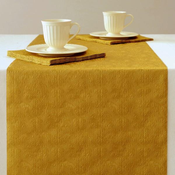 gepr gter tischl ufer design elegance uni gold tischl ufer tischb nder tissue gepr gt. Black Bedroom Furniture Sets. Home Design Ideas